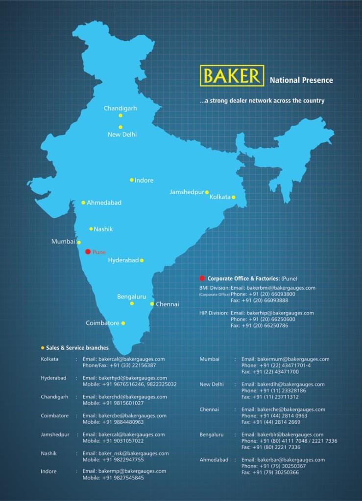 National Presence - Baker Gauges India Pvt. Ltd.
