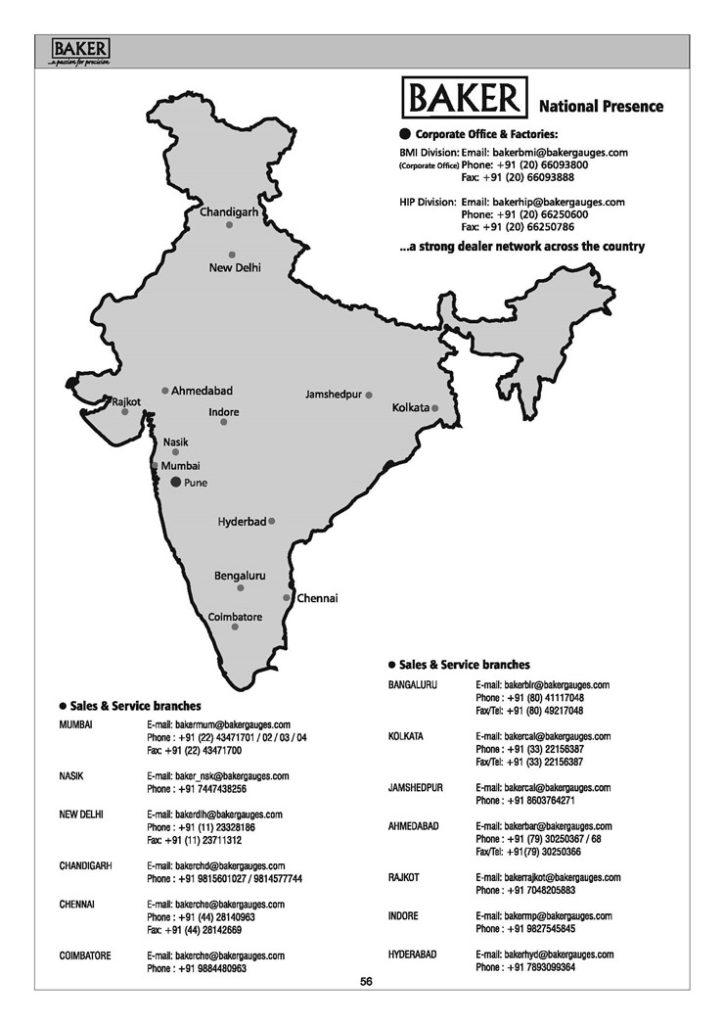 Offices - Baker Gauges India Pvt Ltd