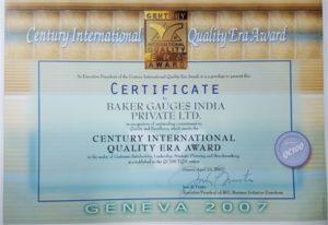 BGIPL awarded the Century International Quality Award in Geneva